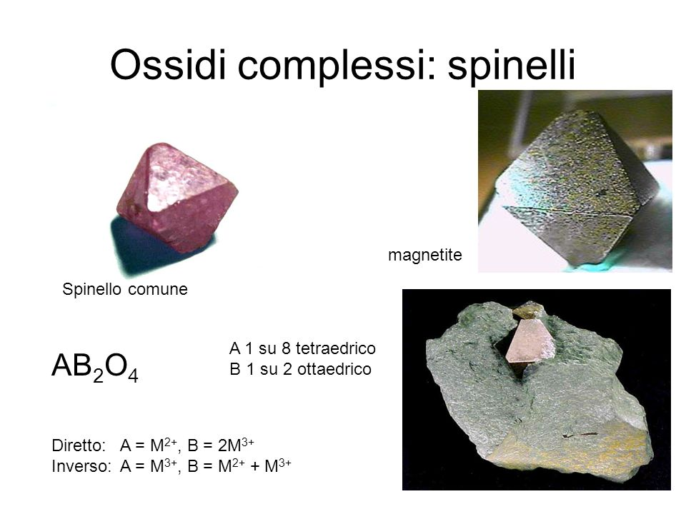 Ossidi complessi: spinelli