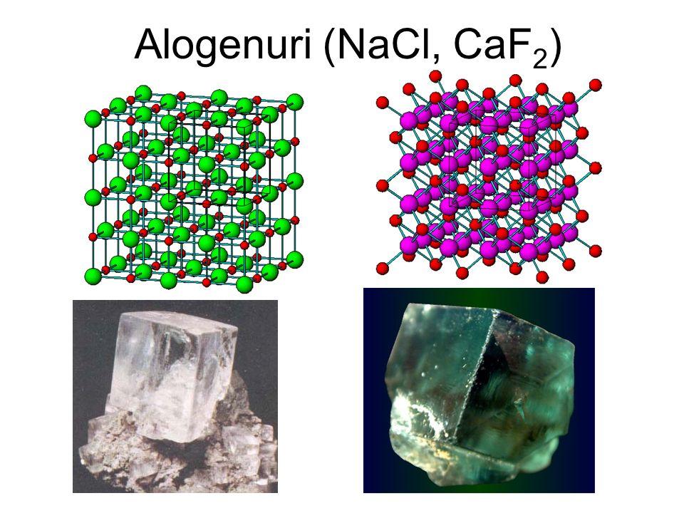 Alogenuri (NaCl, CaF2)