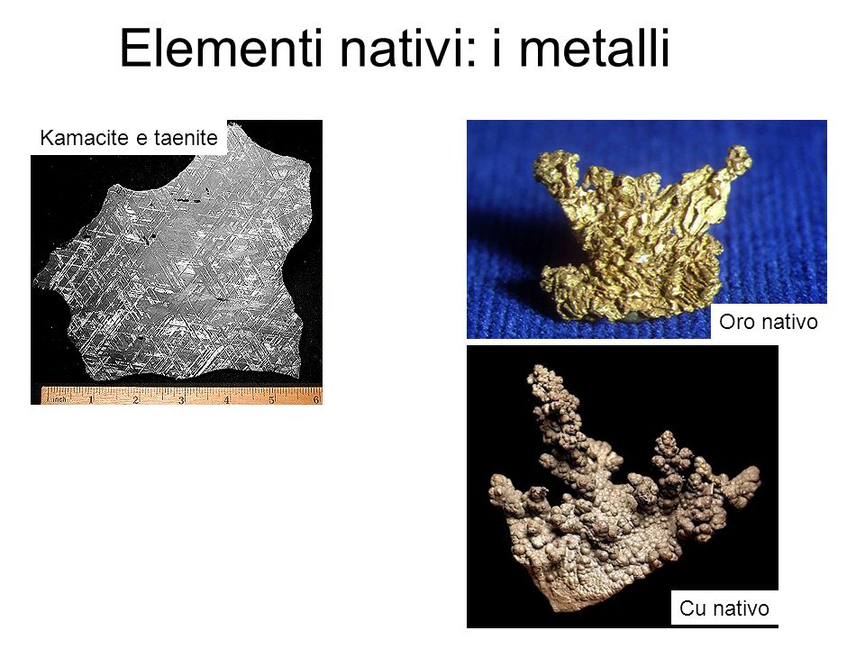 Elementi nativi: i metalli