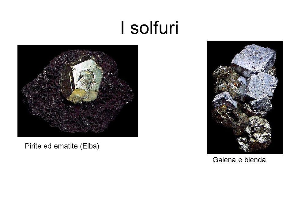 I solfuri Pirite ed ematite (Elba) Galena e blenda