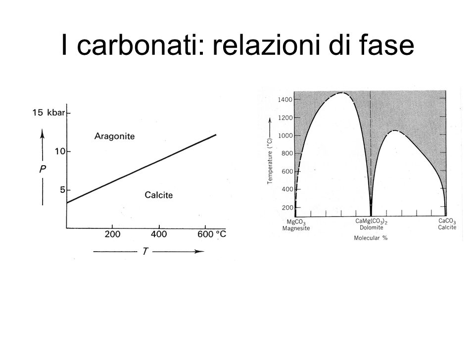 I carbonati: relazioni di fase