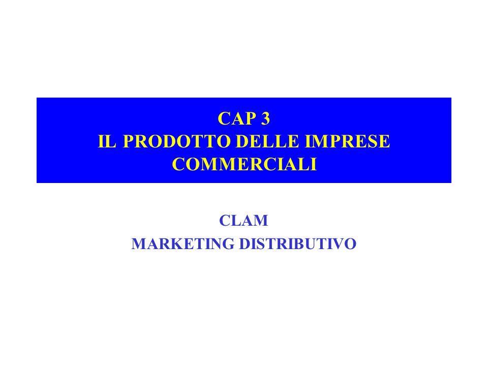 CAP 3 IL PRODOTTO DELLE IMPRESE COMMERCIALI