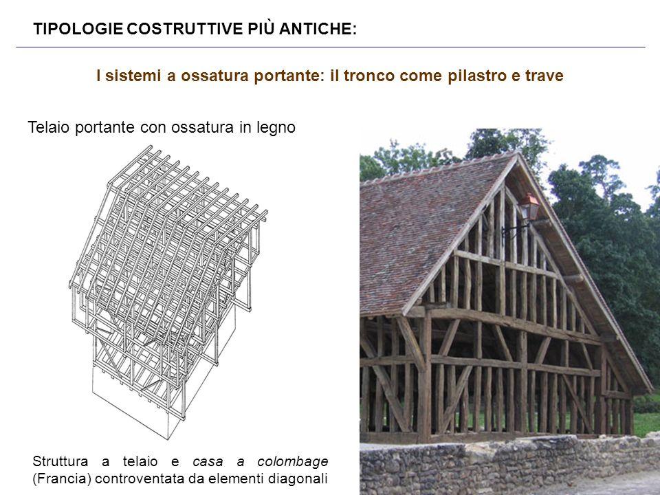I sistemi a ossatura portante: il tronco come pilastro e trave