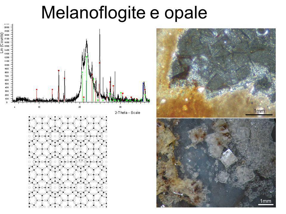 Melanoflogite e opale