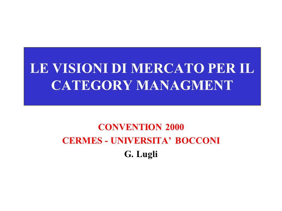 LE VISIONI DI MERCATO PER IL CATEGORY MANAGMENT