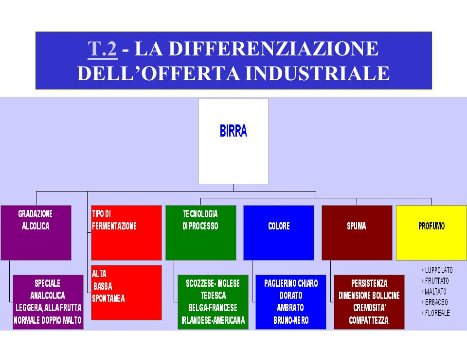 T.2 - LA DIFFERENZIAZIONE DELL'OFFERTA INDUSTRIALE
