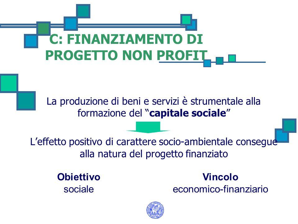C: FINANZIAMENTO DI PROGETTO NON PROFIT