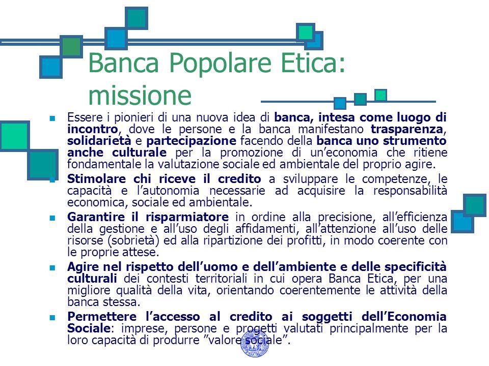 Banca Popolare Etica: missione