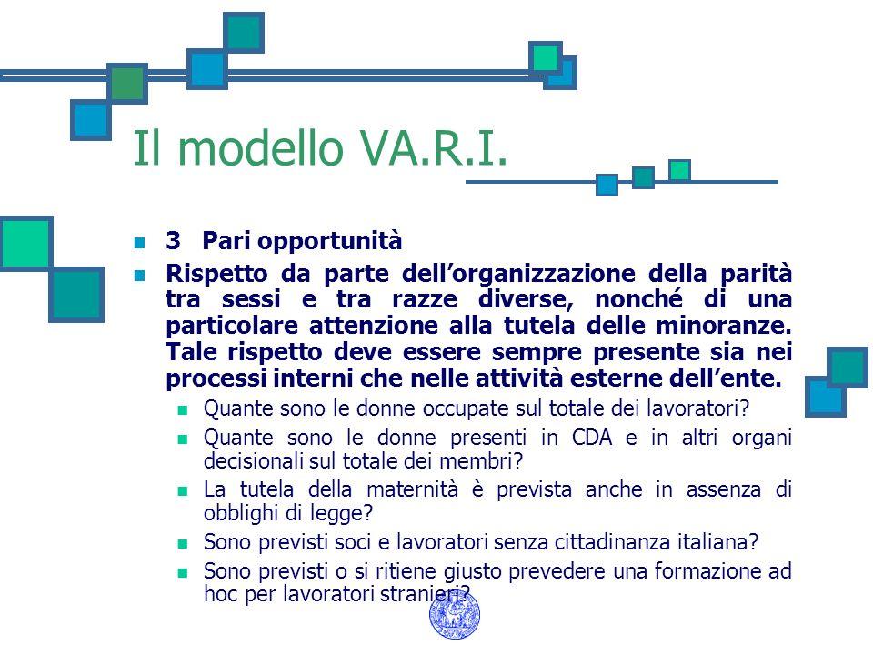 Il modello VA.R.I. 3 Pari opportunità