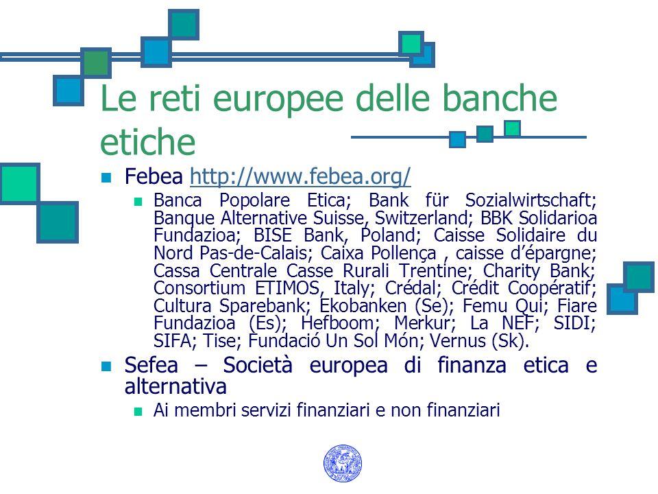 Le reti europee delle banche etiche