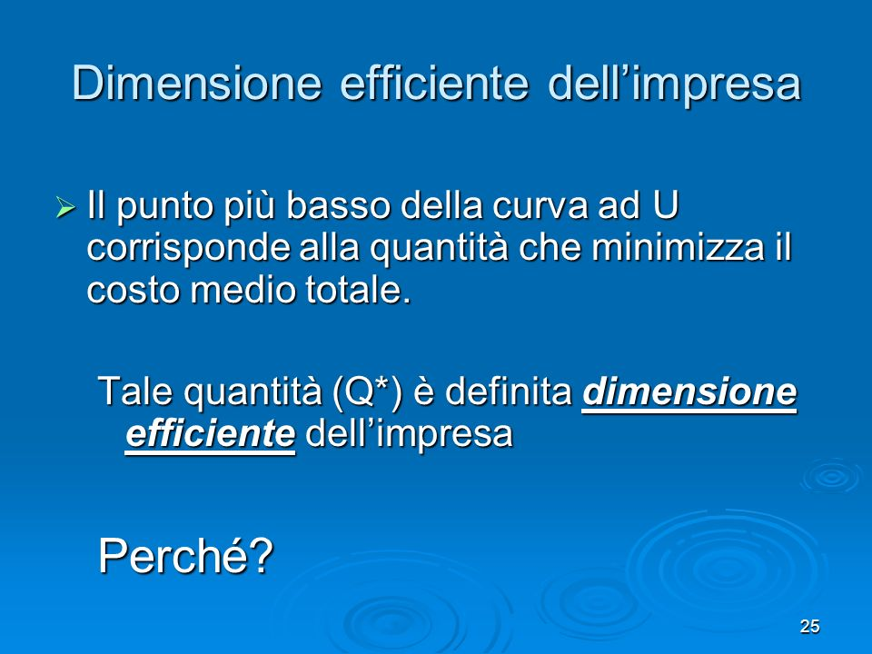 Dimensione efficiente dell'impresa