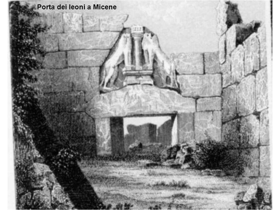Porta dei leoni a Micene