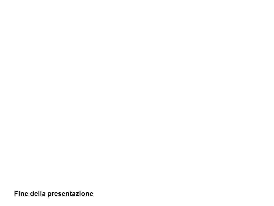 Fine della presentazione