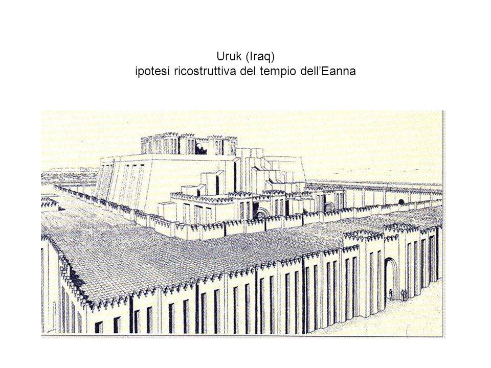 Uruk (Iraq) ipotesi ricostruttiva del tempio dell'Eanna