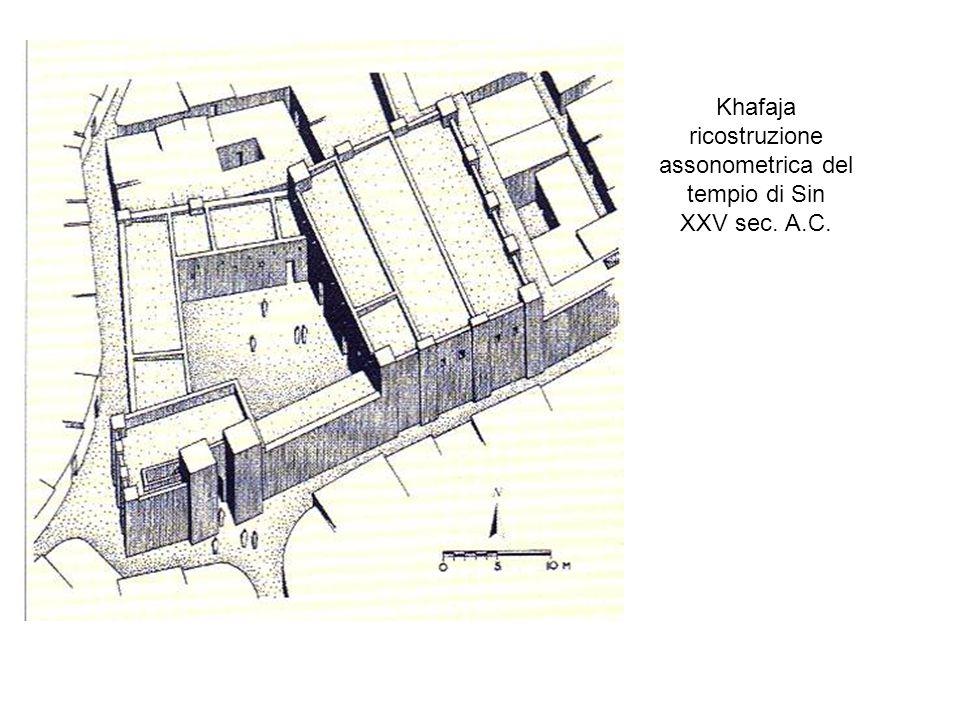 Khafaja ricostruzione assonometrica del tempio di Sin XXV sec. A.C.