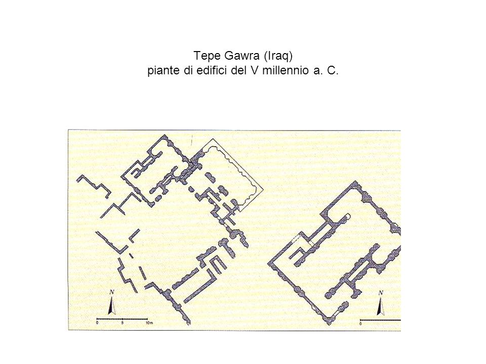 Tepe Gawra (Iraq) piante di edifici del V millennio a. C.