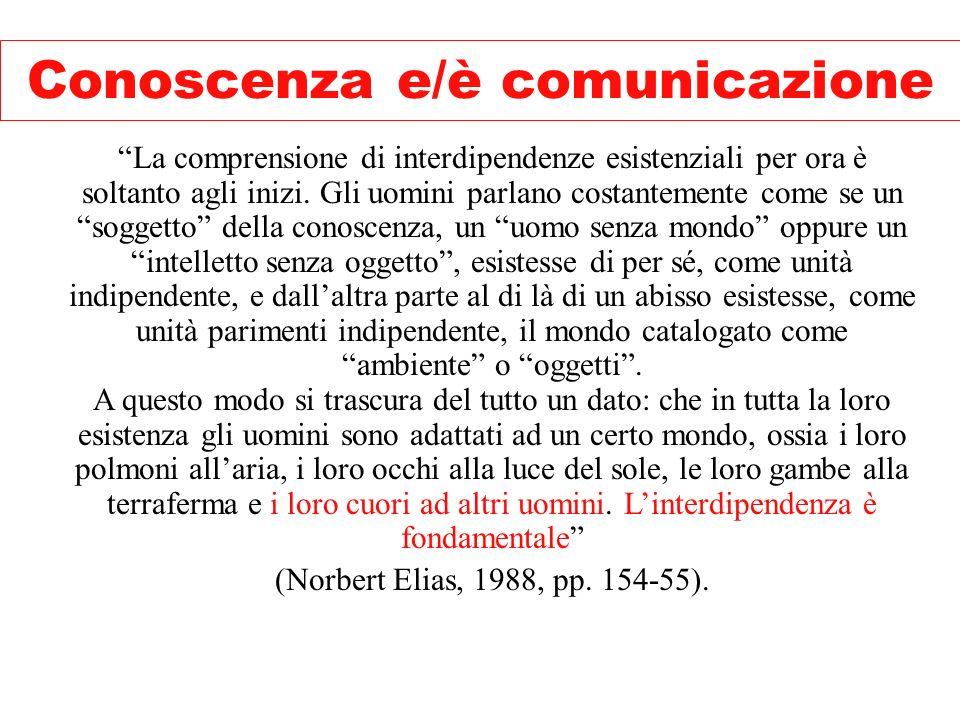 Conoscenza e/è comunicazione