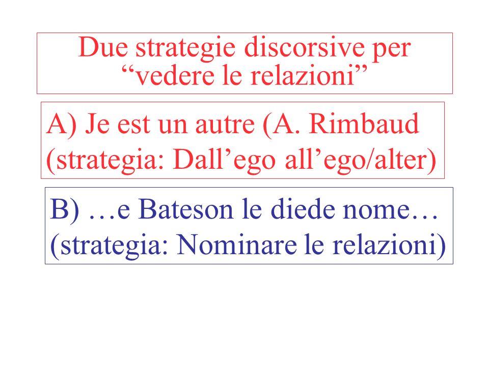 Due strategie discorsive per vedere le relazioni