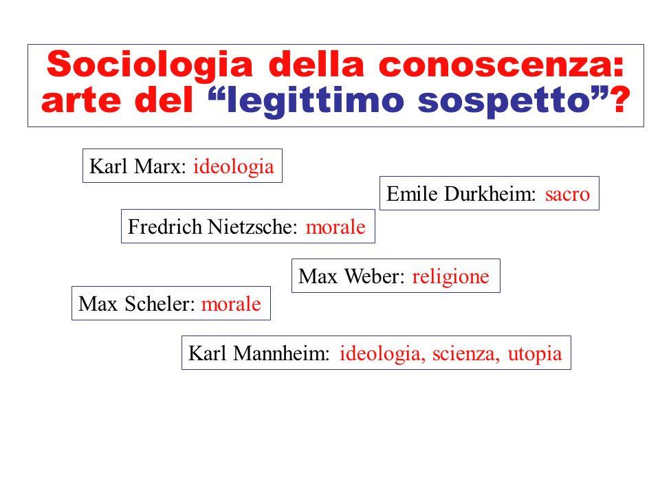 Sociologia della conoscenza: arte del legittimo sospetto