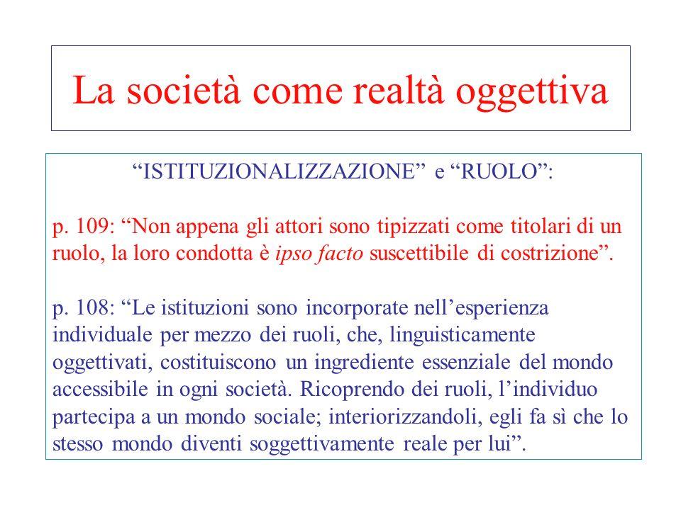 La società come realtà oggettiva