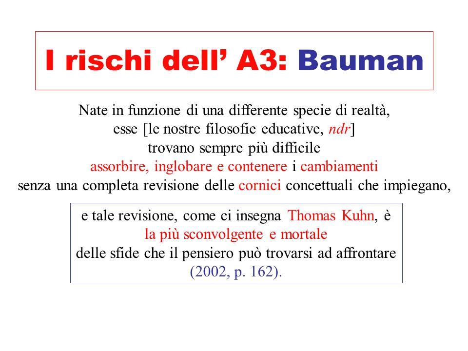 I rischi dell' A3: Bauman