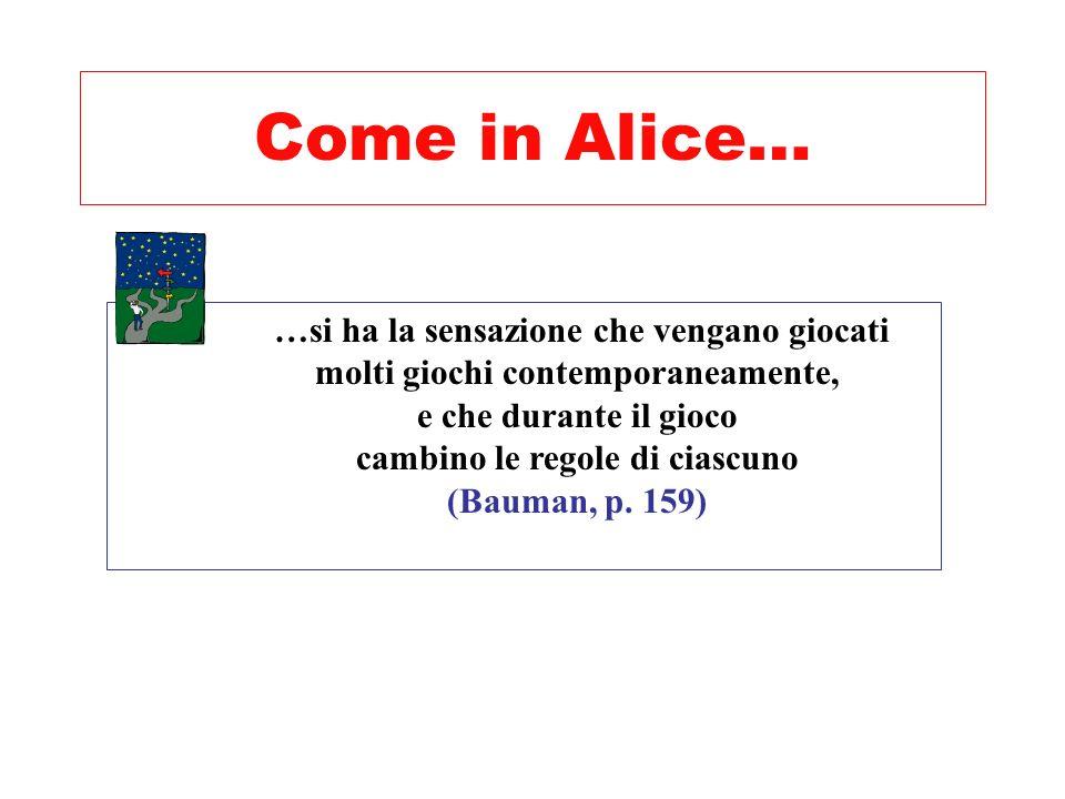 Come in Alice… …si ha la sensazione che vengano giocati