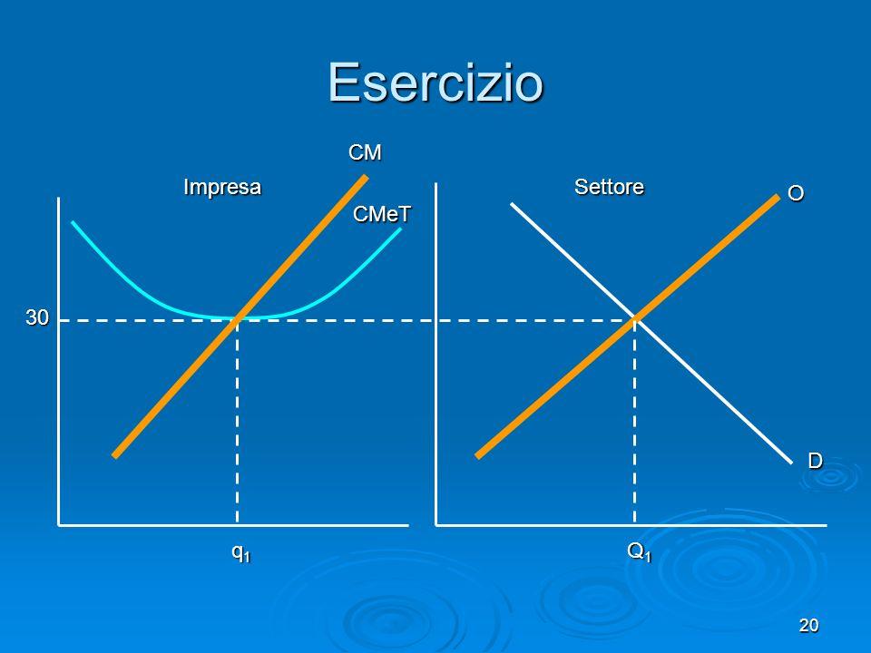 Esercizio CM Impresa Settore O CMeT 30 D q1 Q1