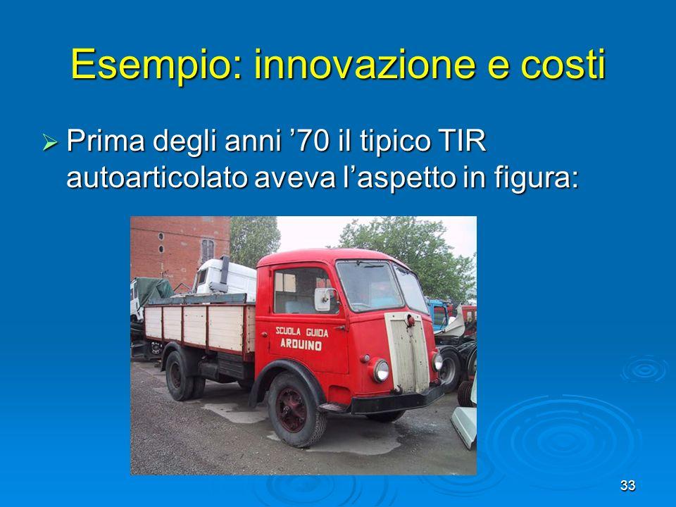 Esempio: innovazione e costi