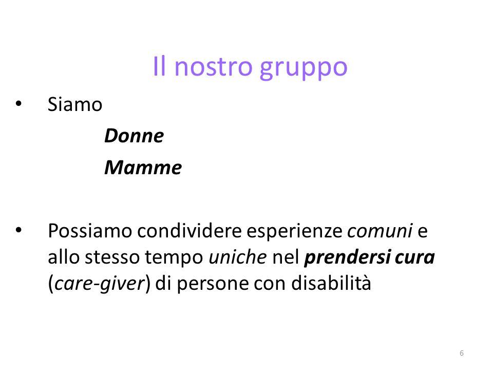 Il nostro gruppo Siamo Donne Mamme