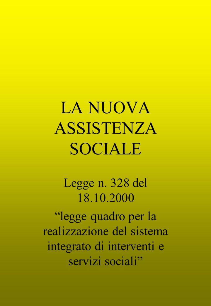 LA NUOVA ASSISTENZA SOCIALE