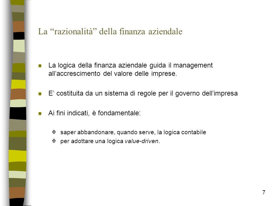 La razionalità della finanza aziendale