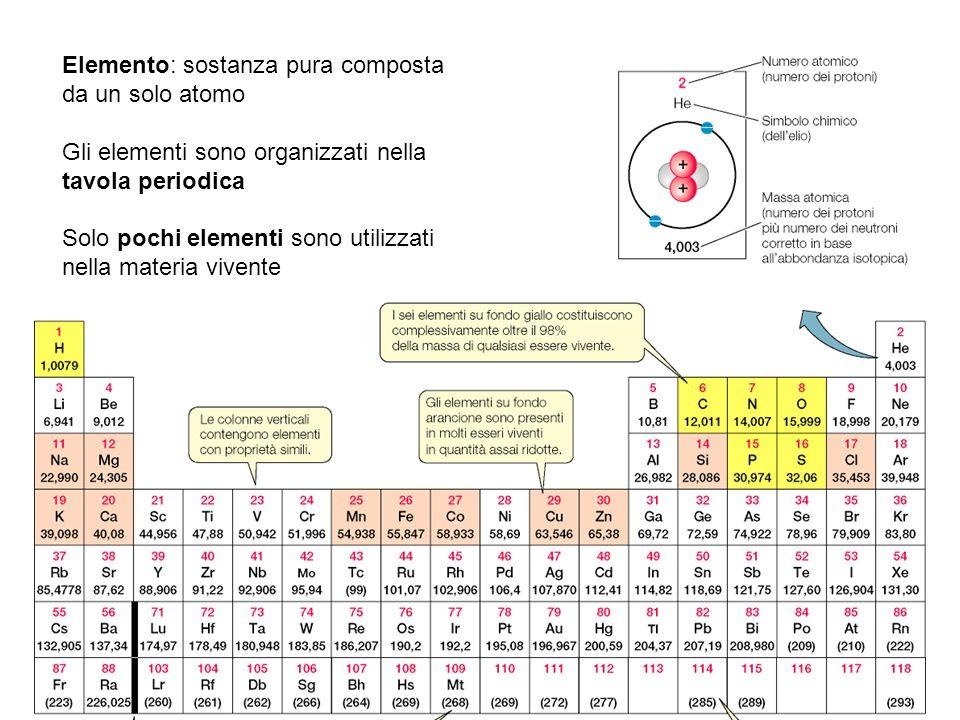 Elemento: sostanza pura composta