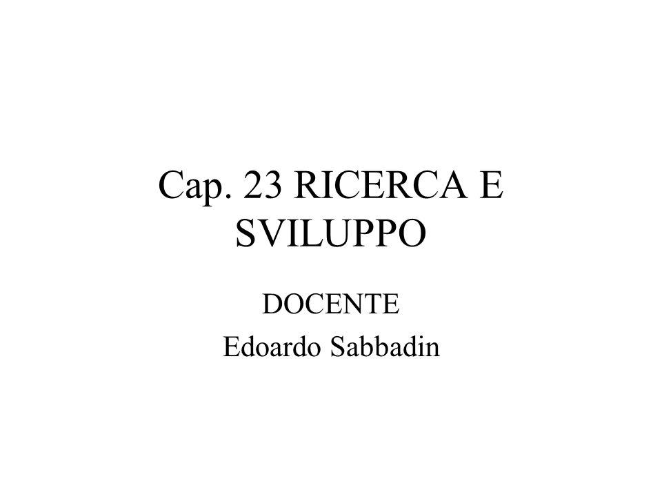 DOCENTE Edoardo Sabbadin
