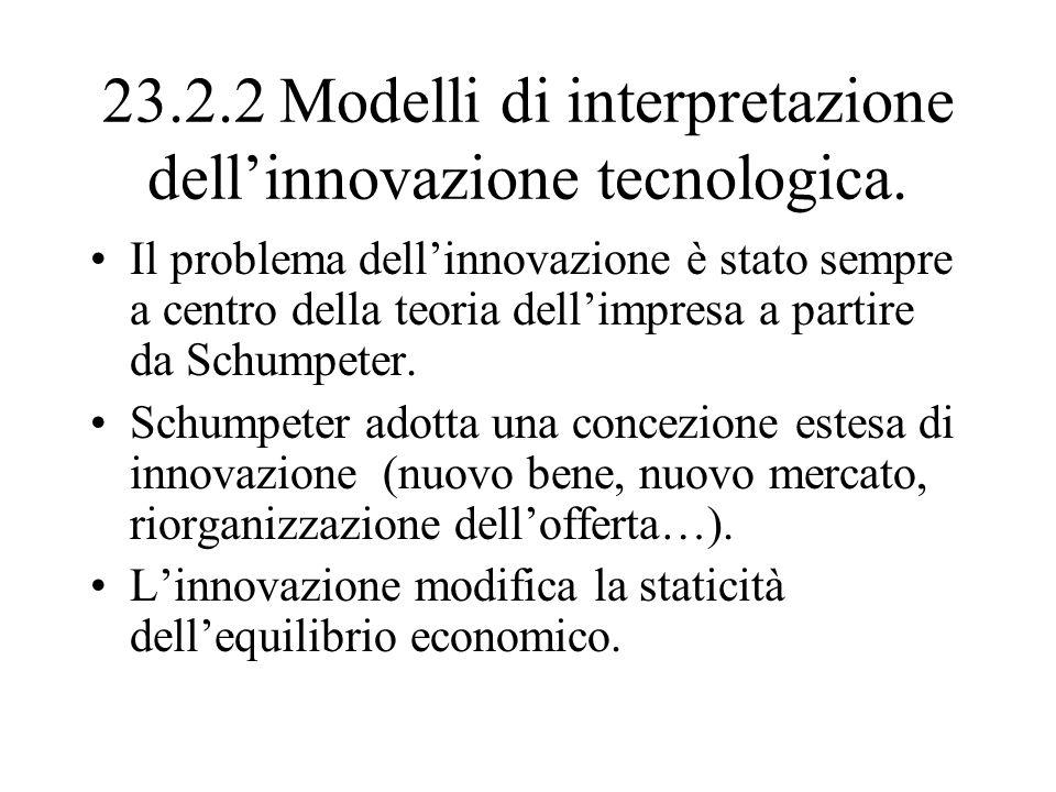 23.2.2 Modelli di interpretazione dell'innovazione tecnologica.