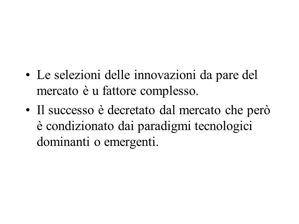 Le selezioni delle innovazioni da pare del mercato è u fattore complesso.