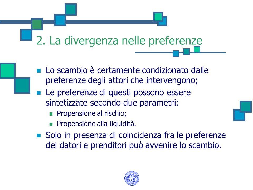 2. La divergenza nelle preferenze