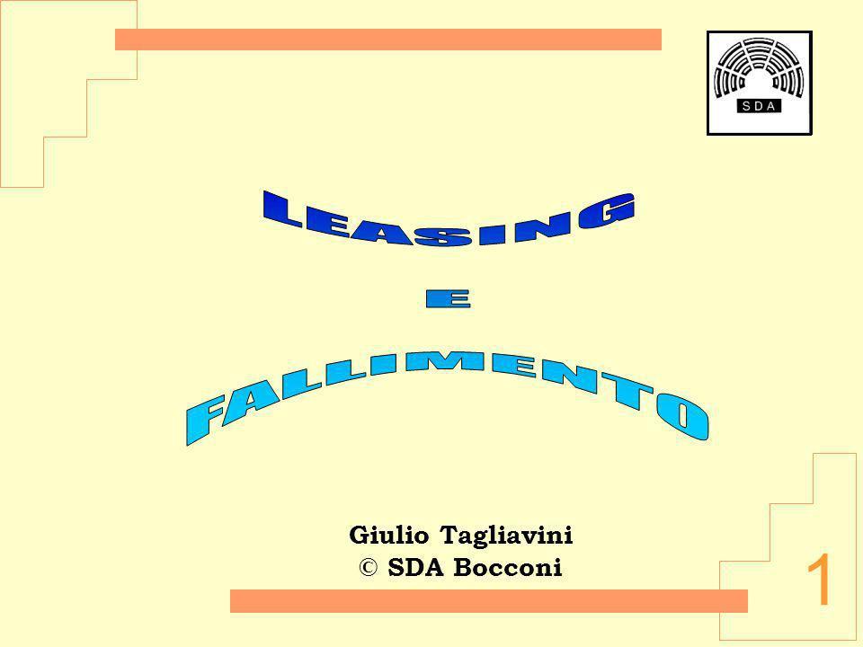 Giulio Tagliavini © SDA Bocconi LEASING E FALLIMENTO