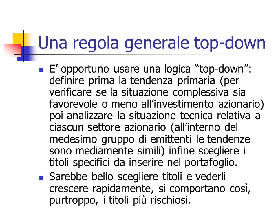 Una regola generale top-down