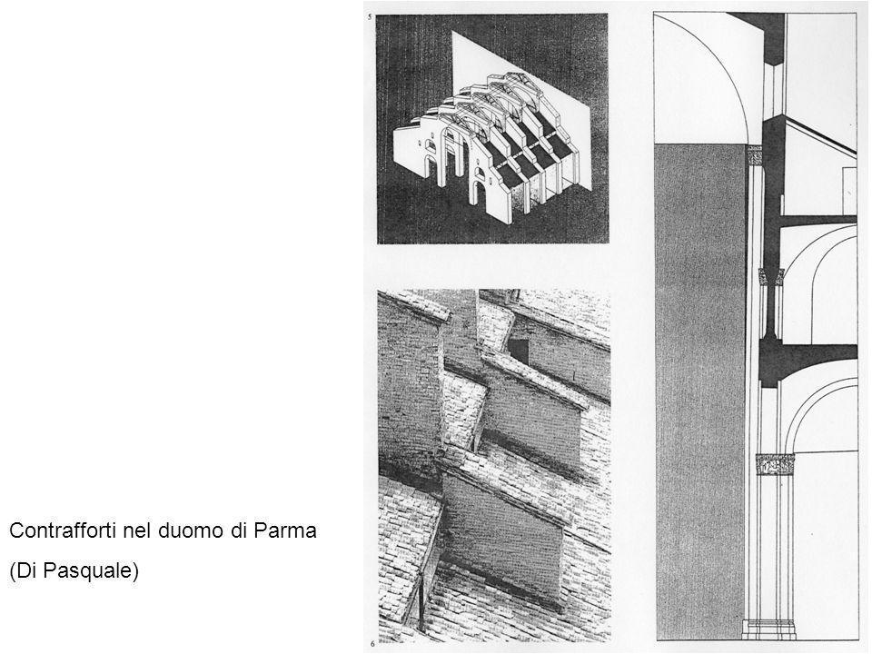 Contrafforti nel duomo di Parma
