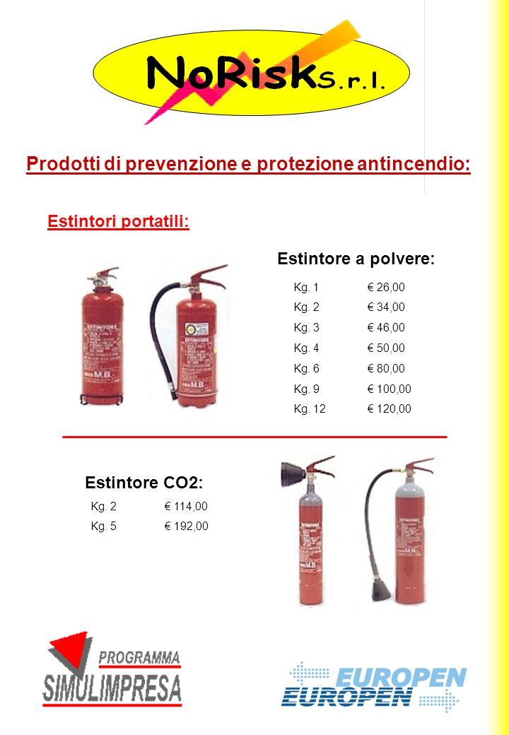 Prodotti di prevenzione e protezione antincendio: