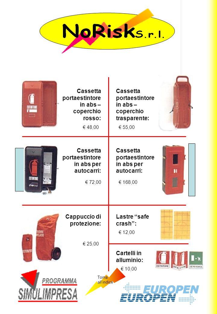 Cassetta portaestintore in abs – coperchio rosso: