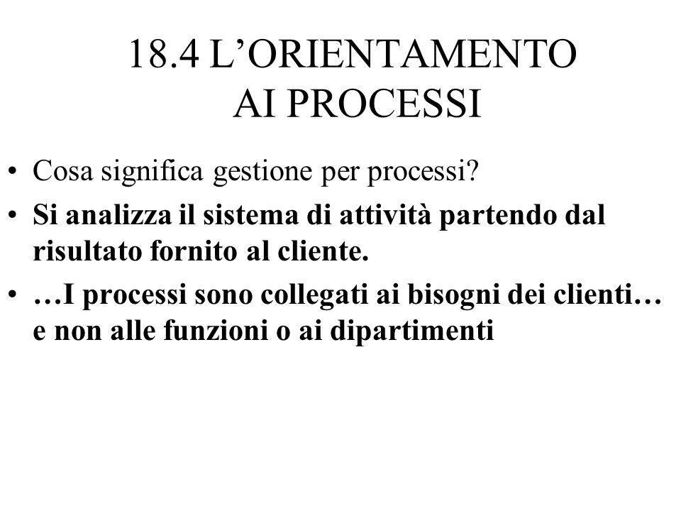 18.4 L'ORIENTAMENTO AI PROCESSI