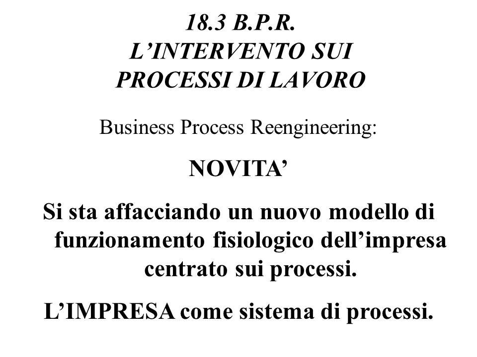18.3 B.P.R. L'INTERVENTO SUI PROCESSI DI LAVORO