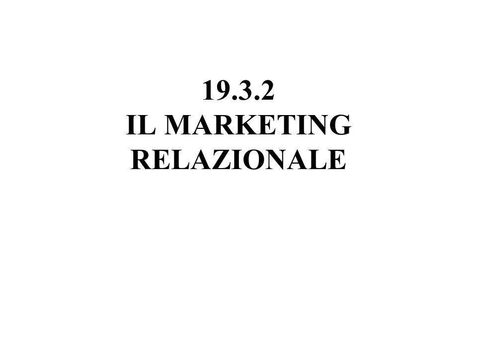 19.3.2 IL MARKETING RELAZIONALE
