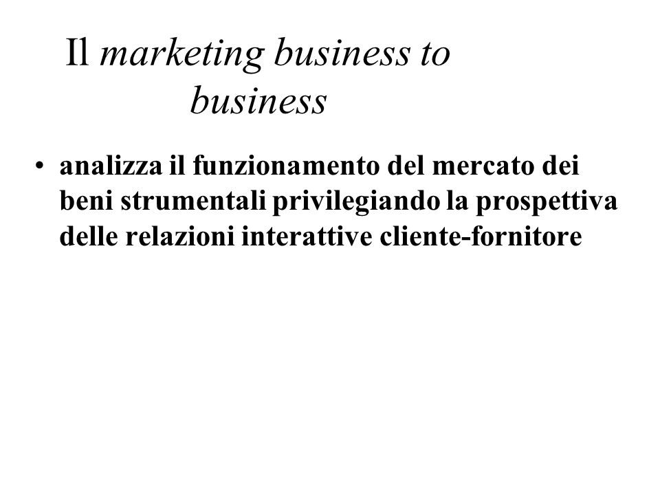 Il marketing business to business