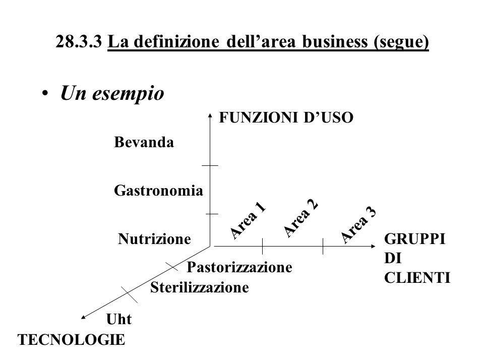 28.3.3 La definizione dell'area business (segue)