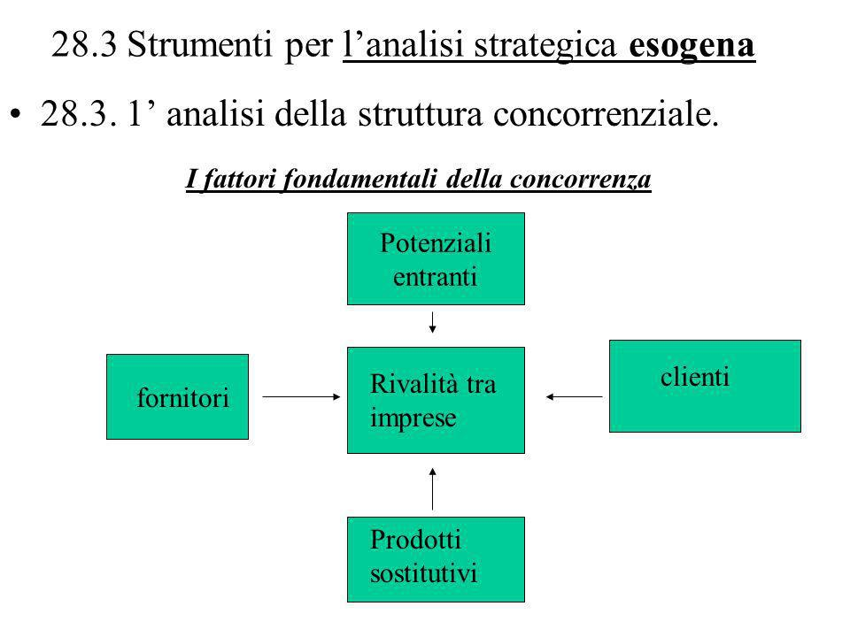 28.3 Strumenti per l'analisi strategica esogena