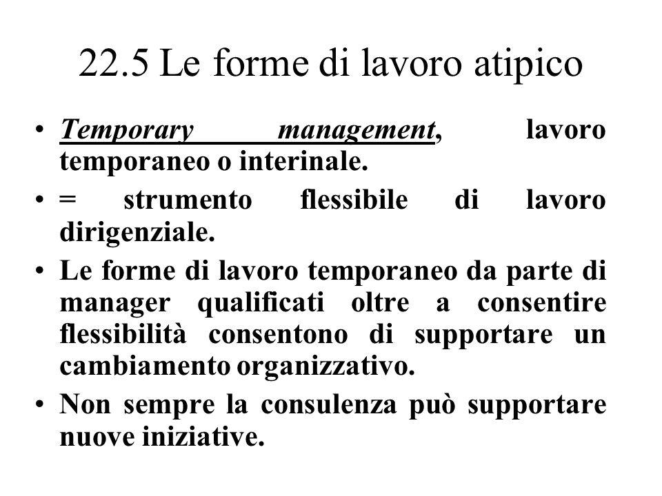 22.5 Le forme di lavoro atipico