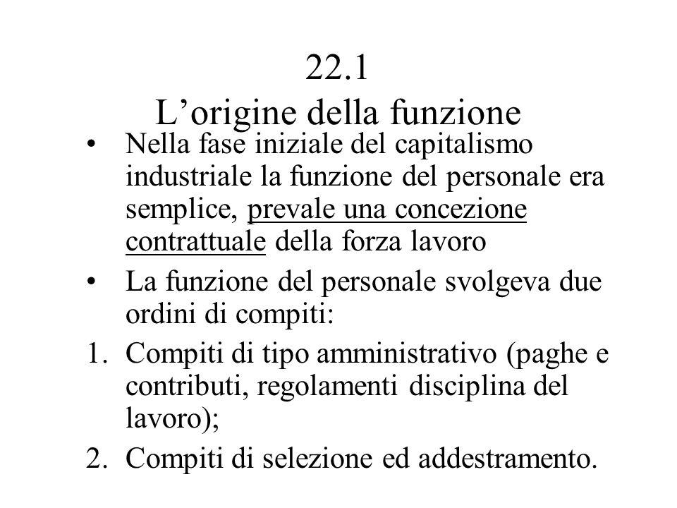 22.1 L'origine della funzione