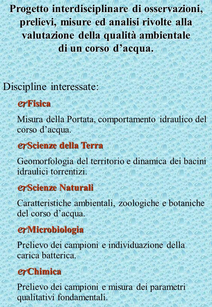 Discipline interessate: